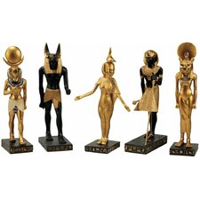5-Piece Gods of the Egyptian Realm Statue Set