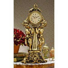 Amboise Twin Cherubs Mantle Clock