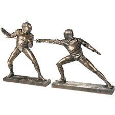 The Fencers Sculpture (Set of Two)