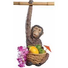 Monkey Business Hanging Statue