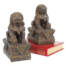 Chinese Guardian Lion Foo Dog Statue (Set of 2)