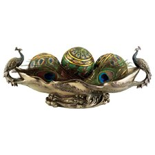 Peacock's Decorative Centerpiece Sculptural Bowl