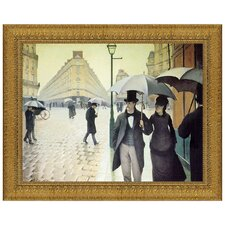 Rue du Paris, Rainy Day, 1877 Replica Painting Canvas Art