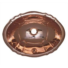 Decorative Smooth Oval  Bathroom Sink
