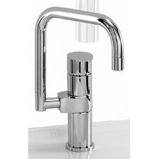Gyro Single Hole Kitchen Faucet with Less Handle and Dual Swivel Spout