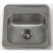 "New England 15"" x 15"" Drop-in Small Square Kitchen Sink with Two Hole"