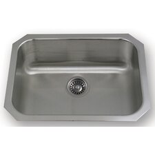 "New England 23.5"" x 18.25"" Undermount Semi Square Kitchen Sink"