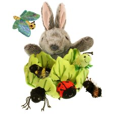 Rabbit in a Lettuce Hide-Away Puppet (with 6 Mini Beasts)