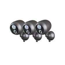 Outdoor Security Spotlight (Set of 3)
