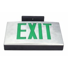 Cast Aluminum Single Aluminum Face LED Exit Sign