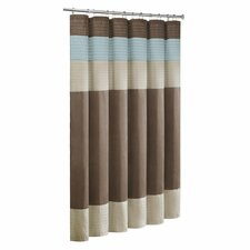 Pieced Faux Dupioni and Polyester Shower Curtain