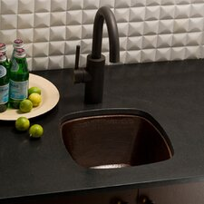 "13"" x 13"" Small Square Hand Hammered Bar Sink"