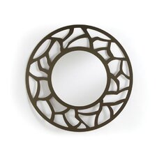 Crackle Round Mirror