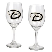MLB 14 Oz Wine Glass (Set of 2)