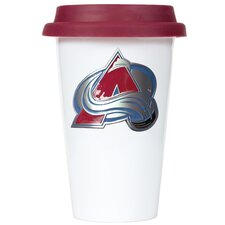 NHL 12oz Double Wall Tumbler with Maroon Lid