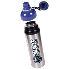 NHL 24oz Colored Stainless Steel Water Bottle Blue Lid