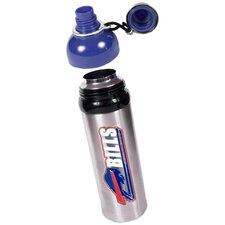 NFL 24oz Colored Stainless Steel Water Bottle Blue Lid