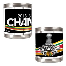 Blackhawks 2013 NHL Stanley Cup Can Holder Set with Wrap (Set of 2)