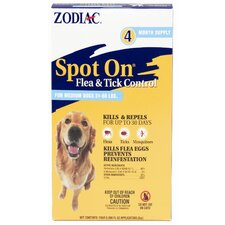 Zodiac Spot on Flea and Tick Control 2cc (Pack of 4)