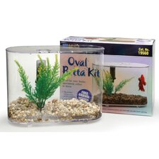 Mini Oval Aquarium Betta Kit