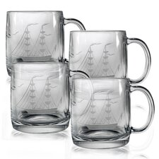 Clipper Ship 12 oz. Coffee Mug (Set of 4)