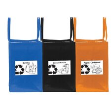 Folding Recycling Tote Bag (Set of 3)