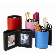 Leather Pen Holder With Frames