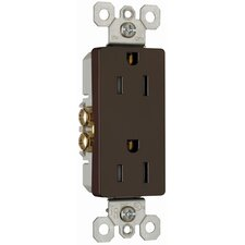 15Amp Decorator Outlet in Brown