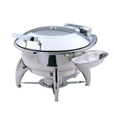 """Save on Additional Items""-Medium Round Chafing Dish with Glass Lid and Base"