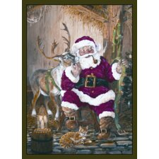 Home Accents Santa and Reindeer Novelty Rug