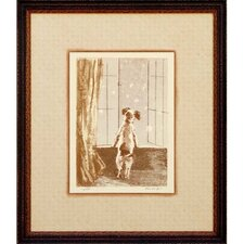 Puppy - Where Are You Framed Print