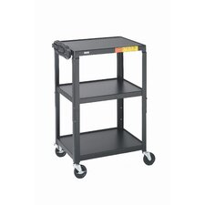 "26 - 42"" High UL Listed Adjustable Audio Visual Cart"