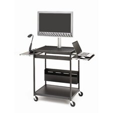 "Flat Panel Cart with Open-Shelf for up to 42"" Screens"