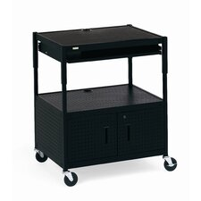 Height Adjustable Multimedia Cabinet Cart