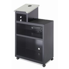 Mobile Presentation Lectern with Data Projector Shelf