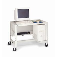 "27 - 41"" Adjustable Height Computer Cart"