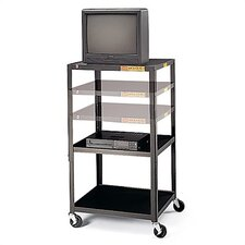 "36 - 54"" High UL Listed Adjustable Audio Visual Cart"
