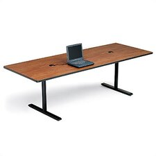 "42"" Deep Rectangle Conference Table - Two Grommet Holes"