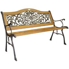 Sienna Wood and Cast Iron Park Bench