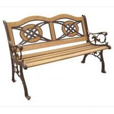 Kokomo Wood and Cast Iron Park Bench
