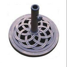 "18"" Free Standing Round Cast Stone Umbrella Base"