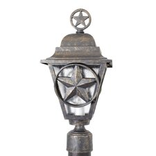 "Americana Lone Star Series 1 Light 19"" Post Lantern"