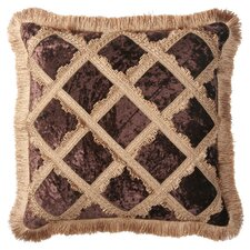 Bacara Synthetic Pillow with Brush Fringe and Braid