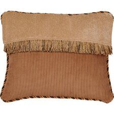 Woodland Synthetic Pillow with Cord and Brush Fringe