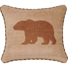 Woodland Synthetic Pillow with Cord and Appliqué