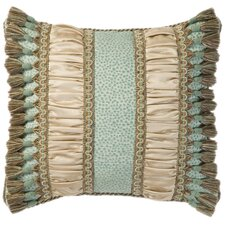 Fortune Synthetic Pillow with Braid, Cord and Tassel Fringe