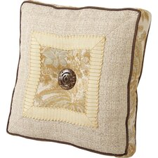 St. Lucia Synthetic Pillow with Self Cord, Wide Braid and Shelf Buttons