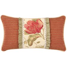 Brianza Floral Synthetic Pillow with Braid and Cord