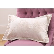 Organic Lumbar Pillow with Embroidery