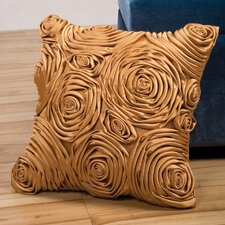 Fusion Decorative Pillow with Fabric Rose